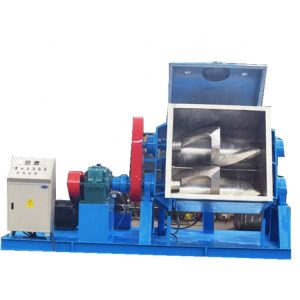 Z-blade mixers for batch production of feedstock materials